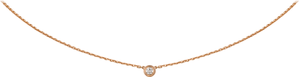 Diamants Légers necklace XSRose gold, diamond