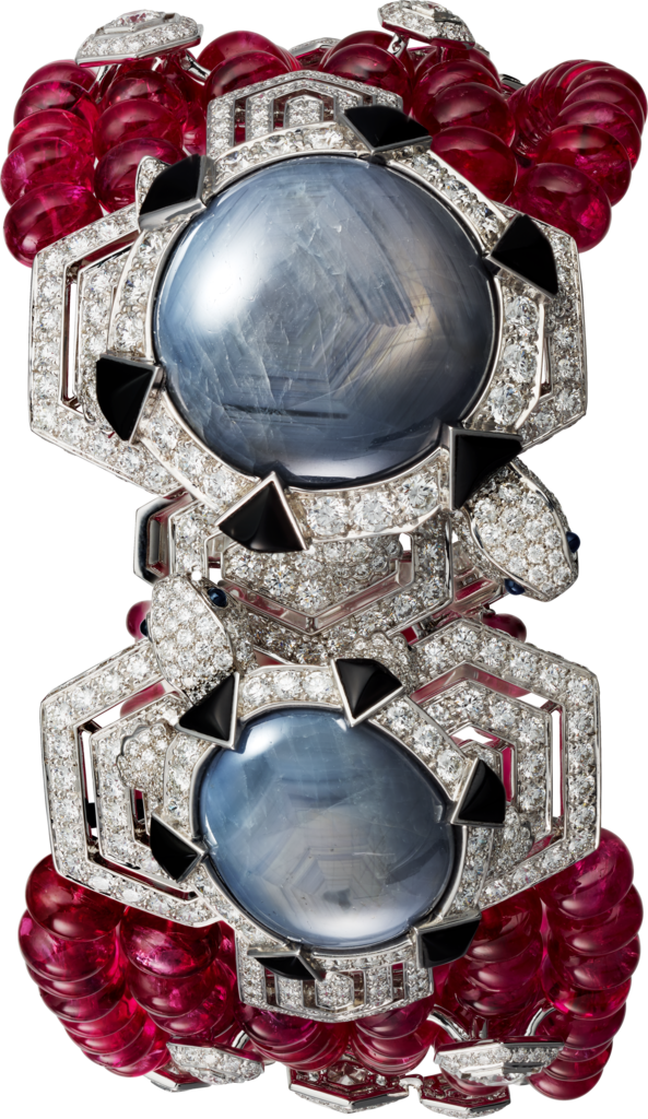 High Jewellery braceletWhite gold, star sapphires, spinels, sapphires, onyx, diamonds