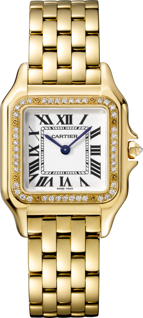 Panthère de Cartier watchMedium model, yellow gold, diamonds