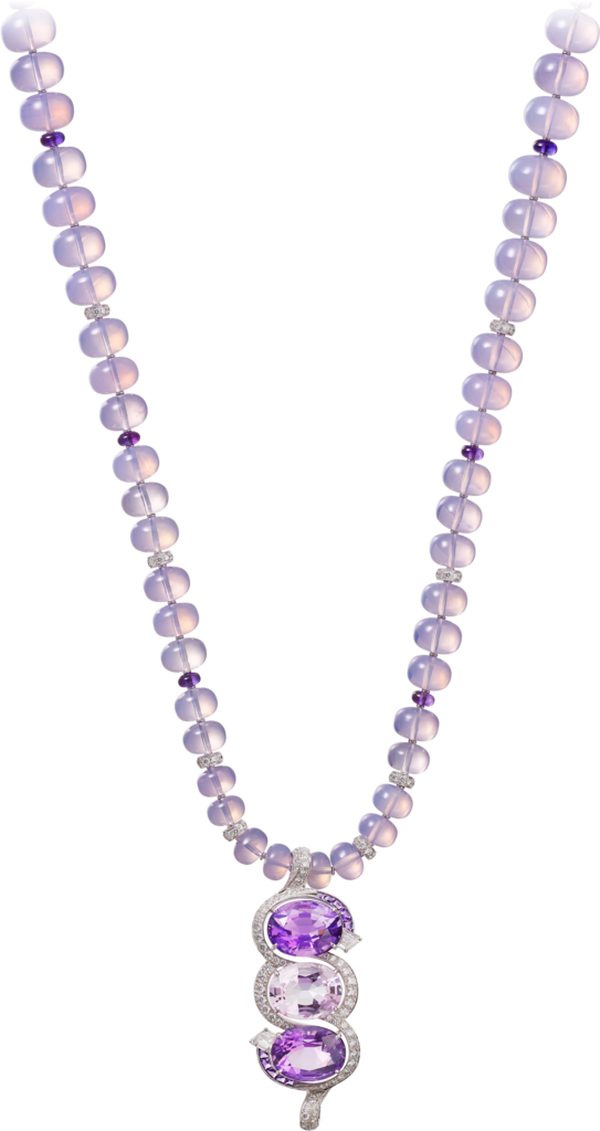 High Jewellery necklaceWhite gold, amethysts, topaz, diamonds