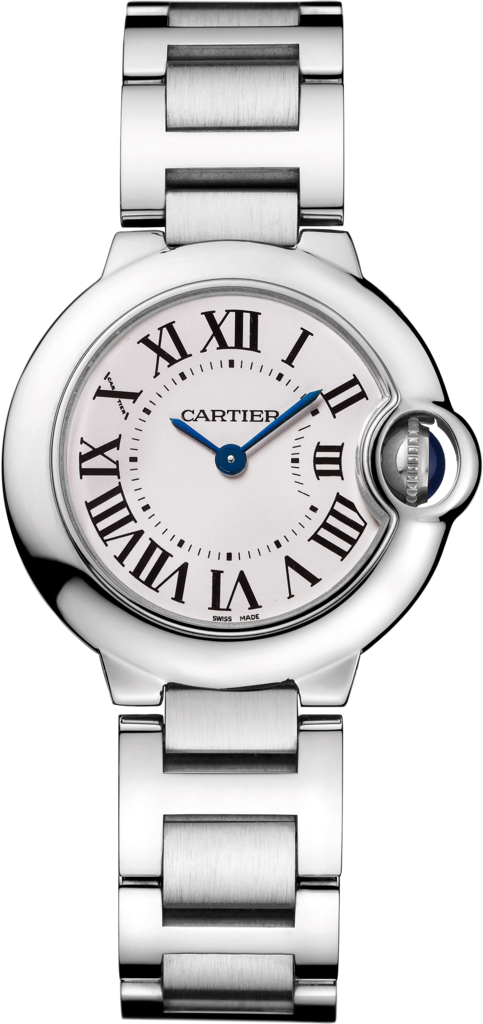 Ballon Bleu de Cartier watch28mm, quartz movement, steel