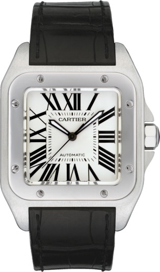 eab2e4faca1c CRW20073X8 - Santos 100 watch - Large model