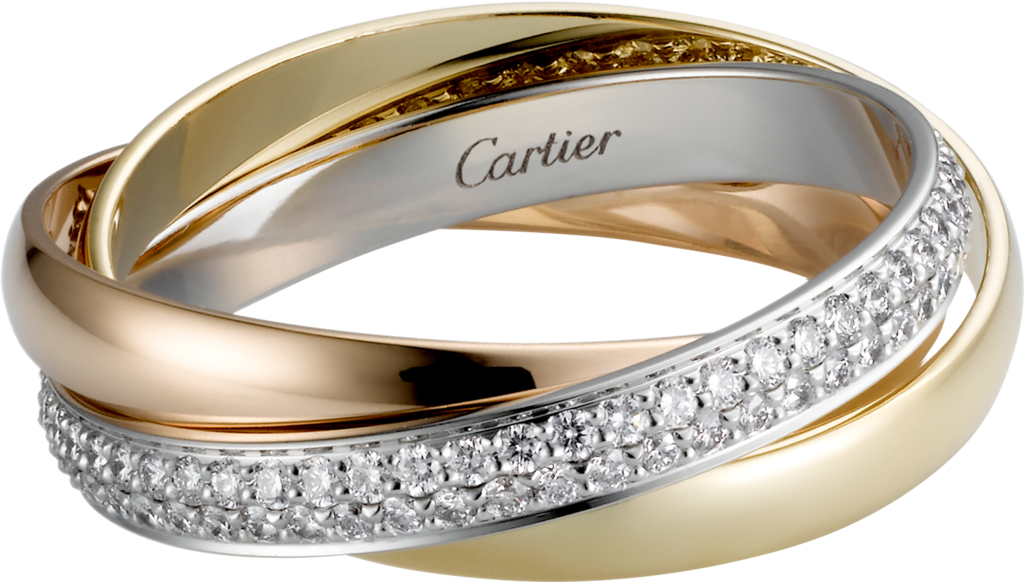 Crb4086000 Trinity De Cartier Ring Small Model White Gold
