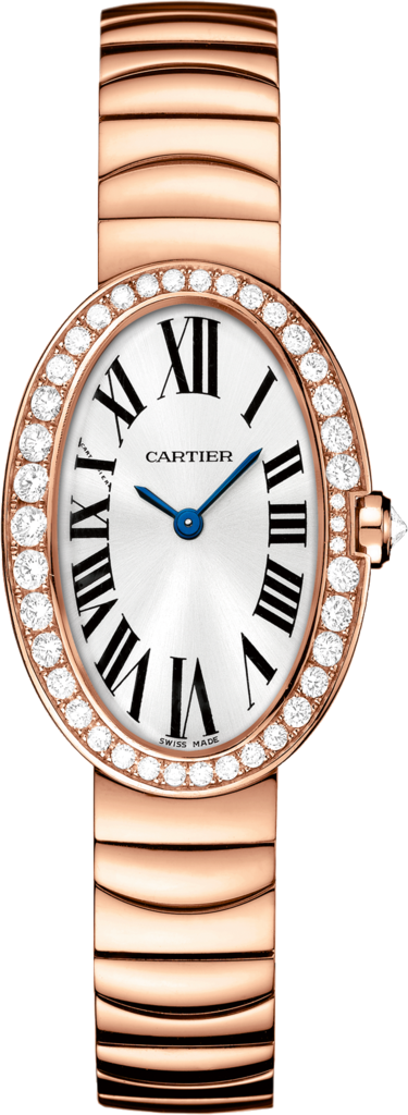 Baignoire watch, small modelSmall model, rose gold, diamonds