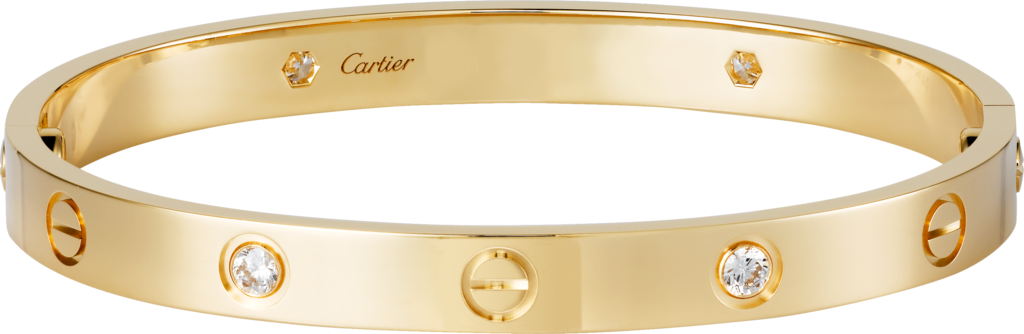 Love bracelet, 4 diamondsYellow gold, diamonds