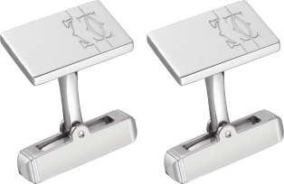 Lines and logo cufflinks Sterling silver, palladium finish