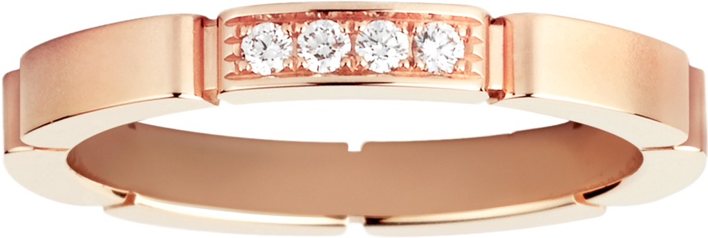 Maillon Panthère wedding ringRose gold, diamonds
